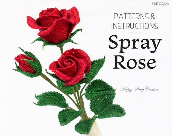 Spray Rose Crochet Pattern