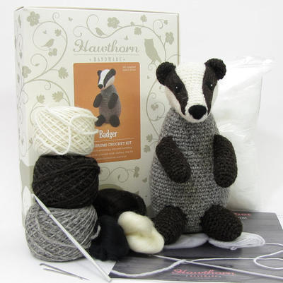 Badger Amigurumi Crochet and Needle Felting Kit