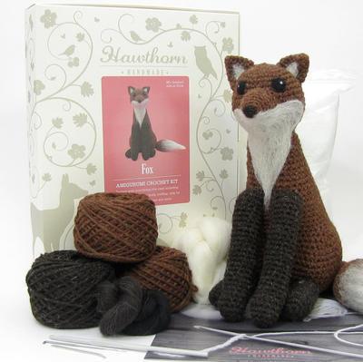 Fox Amigurumi Crochet and Needle Felting Kit