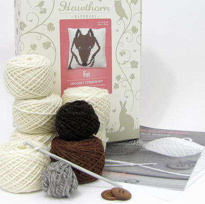 Fox Crochet Cushion Kit