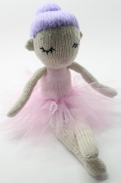 Hazel the Dancing Ballerina Knitted Doll Pattern