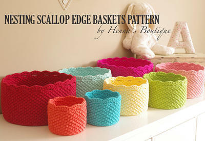 Nesting Scallop Edge Baskets Pattern