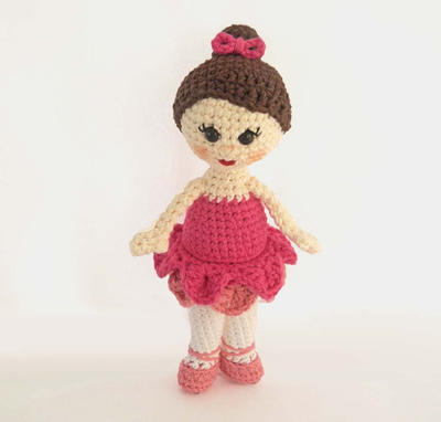 Amigurumi Doll Pattern for Crochet Ballerina Girl