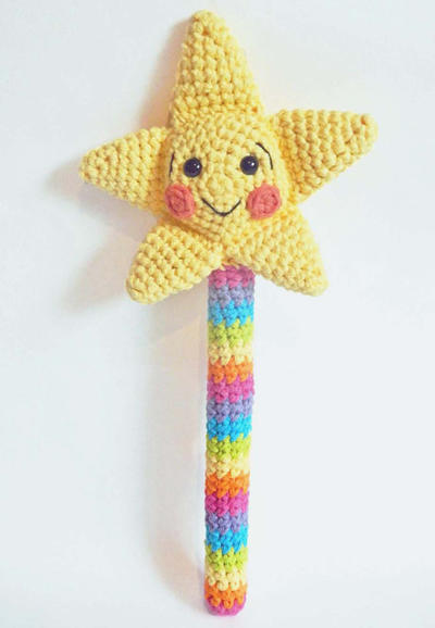 Amigurumi Magic Wand with Crochet Star