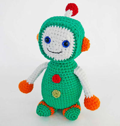 Amigurumi Pattern for Crochet Toy Robot Boy