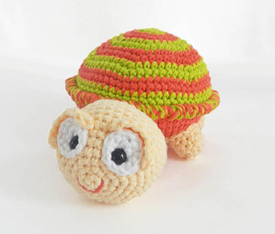 Crochet Turtle Amigurumi Stuffed Animal Pattern