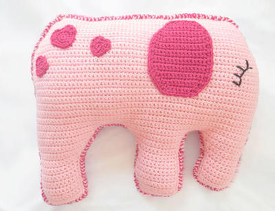 PDF Crochet Toy Elephant Pillow Pattern for Kids