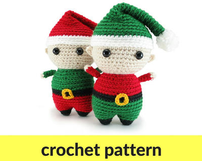 Elf amigurumi pattern - Christmas crochet pattern