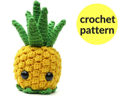 Pineapple amigurumi pattern - kawaii pineapple