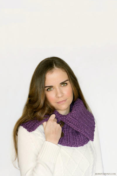 Chic Cowl, Chunky Button Scarf