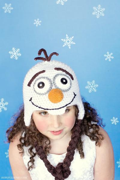 Frozen Olaf Inspired Hat Crochet Pattern