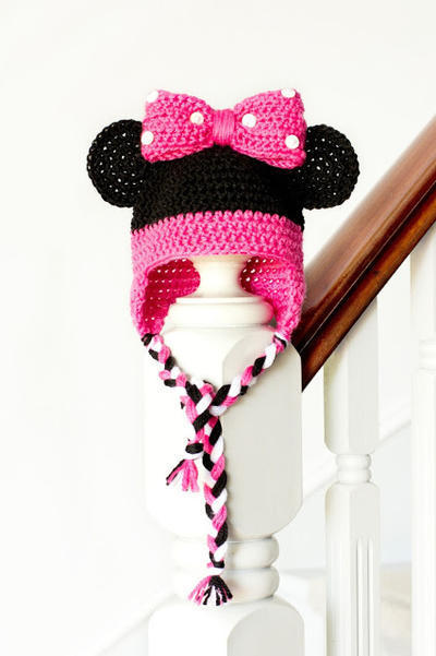 Minnie Mouse Inspired Baby Hat Crochet Pattern