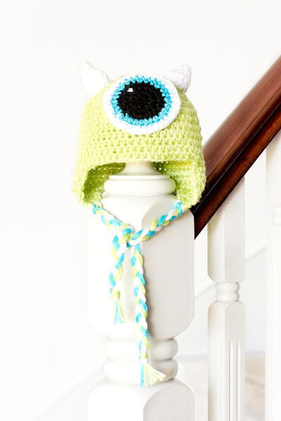 Monsters Inc. Mike Wazowski Inspired Baby Hat Crochet Pattern