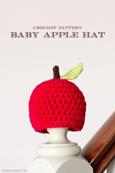 Newborn Apple Hat Crochet Pattern