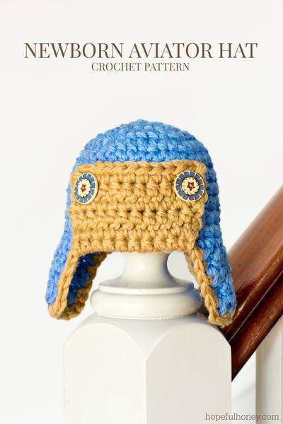 Newborn Aviator Hat Crochet Pattern