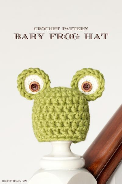 Newborn Frog Hat Crochet Pattern