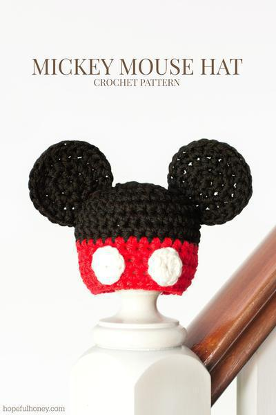 Newborn Mickey Mouse Inspired Hat Crochet Pattern