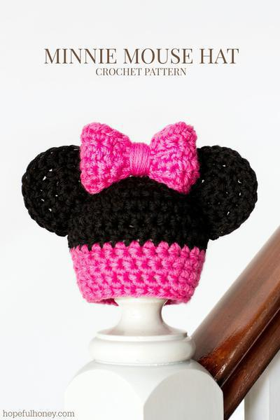 Newborn Minnie Mouse Inspired Hat Crochet Pattern