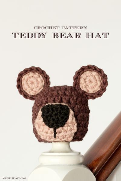 Newborn Teddy Bear Hat Crochet Pattern
