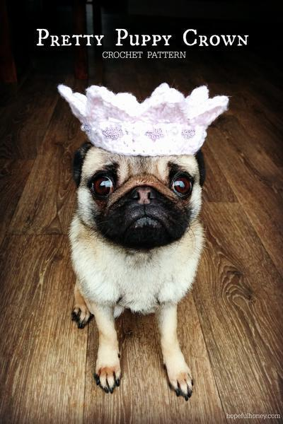 Pretty Puppy Crown Crochet Pattern