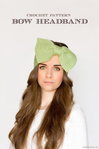 Sweetie Pie Bow Headband Crochet Pattern