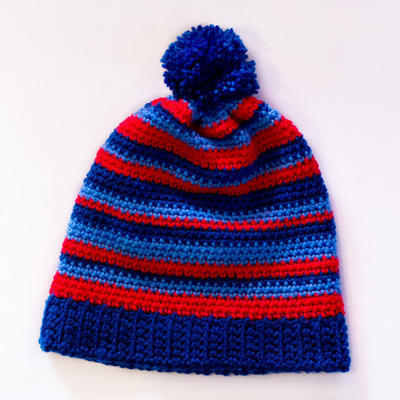 Where's Wally? ~ Stripy Beanie Crochet Pattern