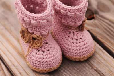"Baby Bootie Crochet Boots ""Willow Boots"""