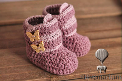 "Baby Booties ""Butterfly Boots"""