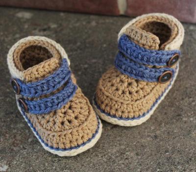 "Crochet Pattern Baby Boy Booties Crochet Shoes ""Cairo Boots"""