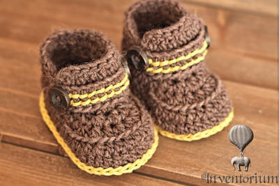 "Crochet Pattern for Boys Boots ""Greko Boot"""