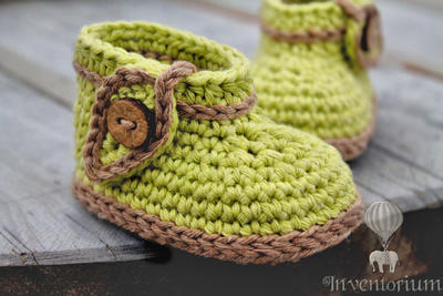 "Crochet Pattern, Green ""Nature Boot"""