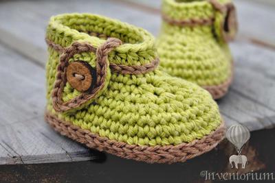 """Crochet Pattern, Green """"Nature Boot"""""""