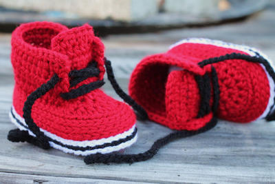 "Crochet Shoes for Baby Boys ""Chase"""