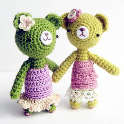 Girly Girl Bear - Amigurumi Pattern