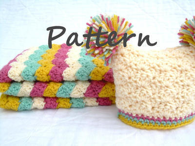 Crochet Baby Blanket and Hat Pattern