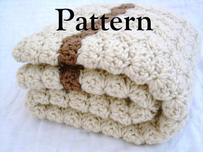Crochet Baby Striped Blanket Pattern