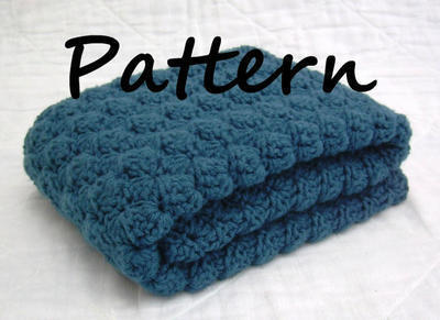 Shell Stitch Cape Cod Blue Blanket