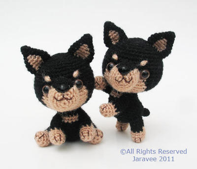 Miniature Pinscher Puppy- PDF Crochet Pattern