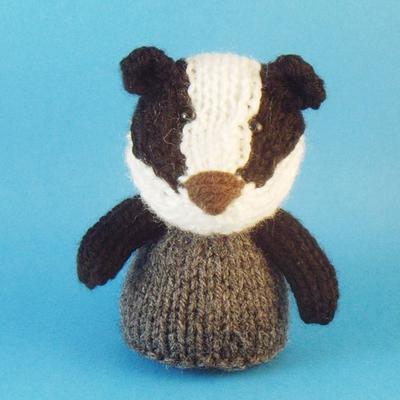 Badger Toy Knitting Pattern