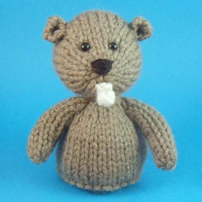Beaver Toy Knitting Pattern
