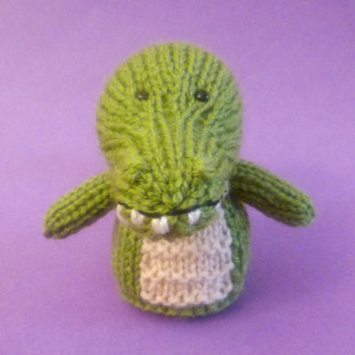 Crocodile Toy Knitting Pattern
