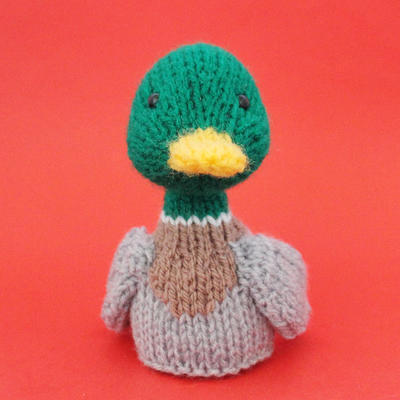 Duck Toy Knitting Pattern (PDF) Toy, Egg Cozy & Finger Puppet instructions included
