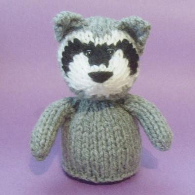 Raccoon Toy Knitting Pattern