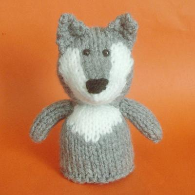 Wolf Toy Knitting Pattern