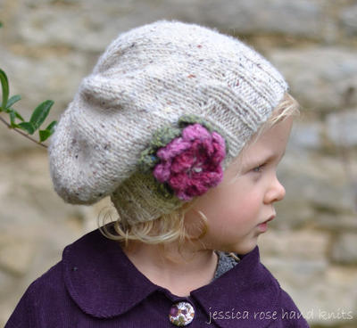 Little Petal Slouchy Hat - baby to adult sizes