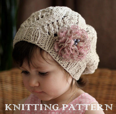 AMOUR Slouchy Hat Kniting Pattern (Toddler 344b5b01dba