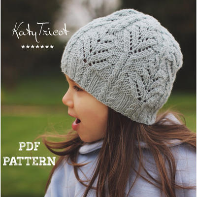 Fern Hat Knitting Pattern (Sizes: Toddler through Adult)