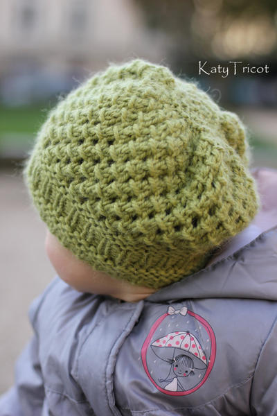 "Knitting Pattern Hat ""Pomme"" (Toddler, Child, Adult sizes)"