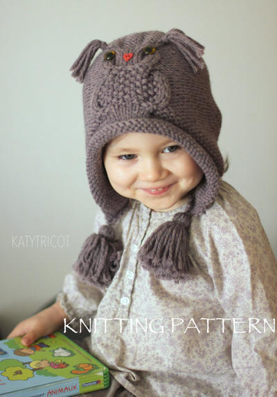 Owl Hat Knitting Pattern (Sizes: Toddler through Adult)
