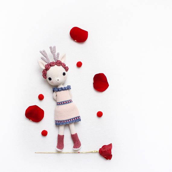 kikalite - Deer Girl Deedee - amigurumi doll
